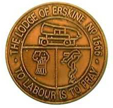 Lodge Erskine Number 1566 token