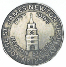 Lodge St James Number 125 Token
