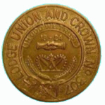 Lodge Union and Crown Number 317 Token